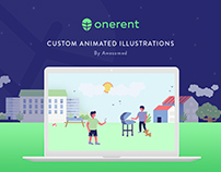 ONERENT - Set of Illustrations and Animations