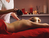 Spa treatment. Massage with moisturizing mask