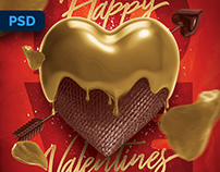 Valentines Day Flyer - PSD Template