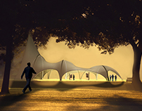 Tensile form- Exhibition space