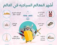 Info Graphic - اشهر المعالم السياحيه