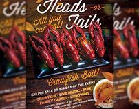 Massive Crawfish Boil Flyer - Food A5 Template