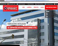 Desarrollo web Aberturas Vidal