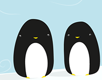 Two Penguins on an Iceberg