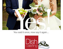 Dish Catering Ad