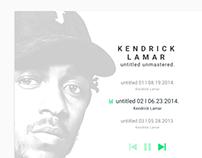 003 DailyUI Landing Spotify Kendrick Lamar