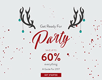 Christmas party emailer newsletter