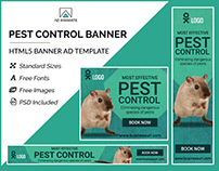 Pest Control Banner- HTML5 Banner Ad Templates
