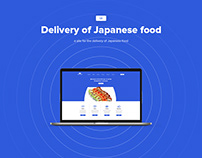 Delivery of Japanese food