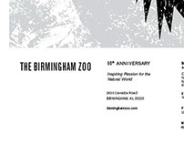 Birmingham Zoo Poster Black and White