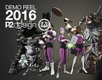 P2DESIGN - Demo reel 2016