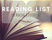 Reading List for Making a Difference