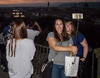 In Florence (selfie and others depressive...)