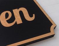 Oaklandish Open/Closed sign