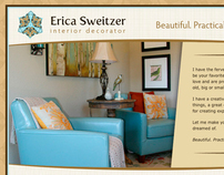 Web site for Erica Sweitzer, Interior Decorator