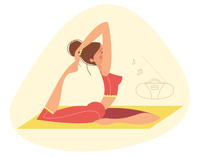 Yoga illustrations