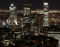 Montreal From Above (tilt shift Timelaps)