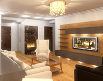 Jurmas private house interior 3D visualization