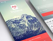 Flat Ui App Design