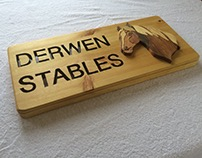 Wooden Horse Name Plaque