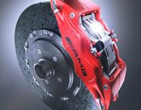 AMG Rear Brake Assembly