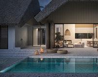 Ocean shore house interiors