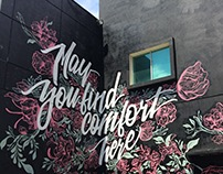 """May You Find Comfort Here"" Mural"