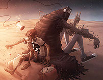 Grim Illustration Pin-Up