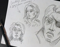 Character creation. Sketching