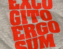 excogito ergo sum t-shirt