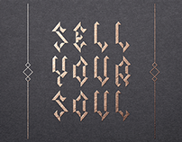 Sell Your Soul - typeface