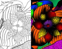 Hand Drawing/Digital Coloring