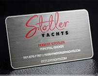 Black Metal Business Cards w/ Brushed Gun Metal Finish