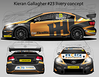 Livery concept for Kieran Gallagher