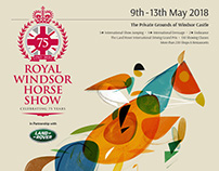 Royal Windsor Horse Show poster illustration