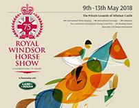 Royal Windsor Horse Show poster illustration