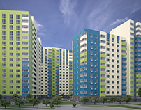 """Nivki"" lowcost housing facade research"