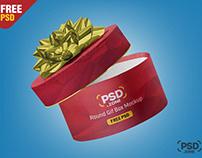 Round Gift Box Mockup PSD