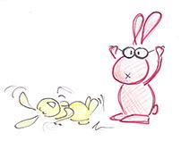 ILLUSTRATION frolic bunnies