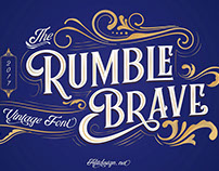 Rumble Brave Vintage Fonts Packages