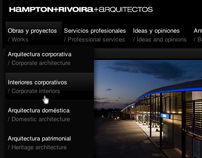 Hampton+Rivoira architecture studio website