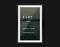 Typography Exercise: Poster Design (Quotes)