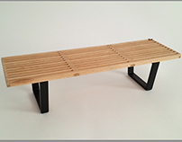 George Nelson Bench, 1:5 scale model