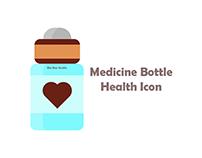 Brown Medicine Bottle Health Icon