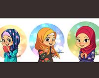 Cheerful Hijabis
