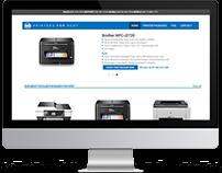 Web Design: Printers for Rent
