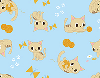Cute Pet Prints Fabric & Surface Design