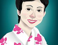 """A Japanese woman wearing """"yukata"""""""