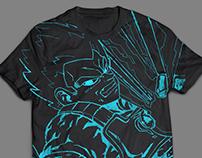 SSJ Blue Vegeta shirt design