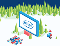 Christmas Card for Intel Poland